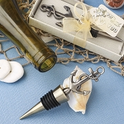 Anchor Bottle Stopper With Brass Finish