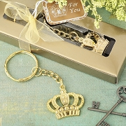 Gold Metal Crown Key Chain