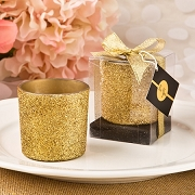 Gold Glitter Votive Candle Holder