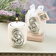 Madonna and Child Candle Tea Light Holder