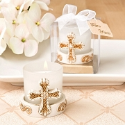 Vintage Cross Themed Votive Candle