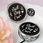 Best Day Ever Metal Compact Mirror With Black Epoxy Top