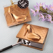 Gold High Heel Shoe Compact Mirror