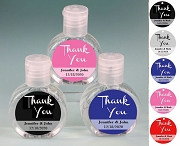 Hand Sanitizer Party Favors with Personalized Thank You Labels (2 oz)