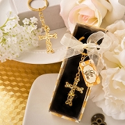 Gold Metal Cross with Intertwined Design