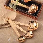 Gold Stainless Steel Heart Measuring Spoons (3 spoons)