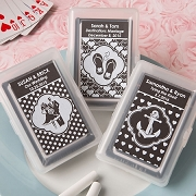Chalk Board Playing Card Wedding Favors