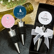 Personalized Wine Bottle Stopper - Aztec / Wanderlust Stickers