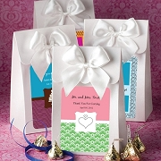 White Personalized Delivered With Love Favor Bag