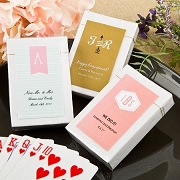 Playing Card Favors with Monogram Design