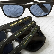 Black Sunglasses with Metallic Stickers