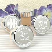 Personalized Silver Aluminum Bottle Stopper Wedding Favors
