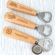 Personalized Wood Handle Bottle Opener