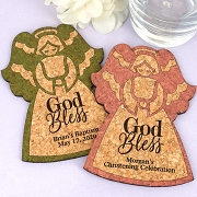 Personalized Angel Cork Coaster