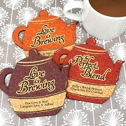 Personalized Tea Pot Cork Coaster