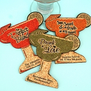 Margarita Glass Personalized Cork Coaster