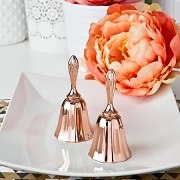 Rose Gold Metal Wedding Bell Favors