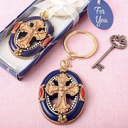 Gold Cross Themed Keychain