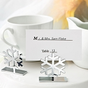 Snowflake Placecard and  Photo Holder
