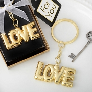 LOVE Key Chain With Mylar Balloon Design