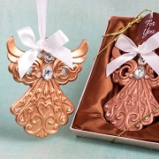 Rose Gold Guardian Angel Ornament