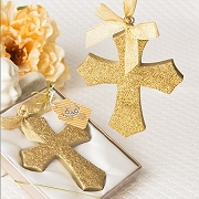 Gold Glitter Cross Ornament