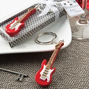 Classic Red Electric Guitar Key Chain Favors