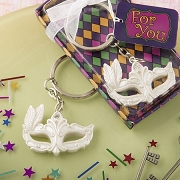 Mardi Gras Masked Key Chain Favor