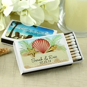 Personalized Wedding Matches - Beach Theme (Set of 50)