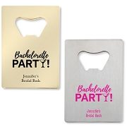 Bachelorette Party Credit Card Bottle Openers