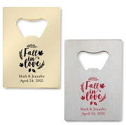 Fall In Love Bottle Openers - Credit Card Design