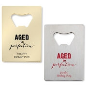 Aged To Perfection Bottle Openers - Credit Card Design