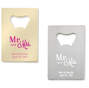 Mr. & Mrs. Bottle Openers - Credit Card Design