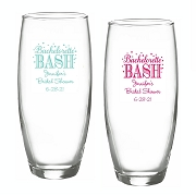 Bachelorette Bash Personalized Stemless Champagne Glass (9 oz)