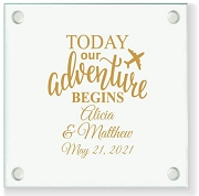 Today Our Adventure Begins Personalized Coaster