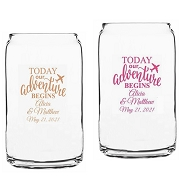 Today Our Adventure Begins Beer Can Glass (16 oz)