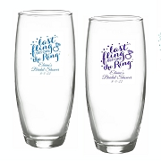 Last Fling Before The Ring Personalized Stemless Champagne Glass (9 oz)