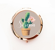 Personalized Cactus Desert Design Compact Mirrors