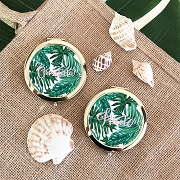 Personalized Palm Leaf Compacts