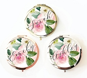 Personalized Spring Rose Compact Mirrors