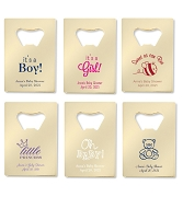 Gold Credit Card Bottle Opener Baby Shower Favors - 12 Popular Baby Designs