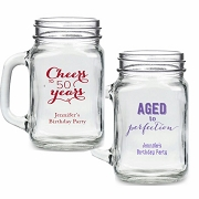Personalized 16 oz. Mason Birthday Party Favors