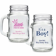 Personalized 16 oz. Mason Jar Baby Shower Party Favors