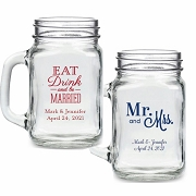 Personalized 16 oz. Mason Jar Wedding Favors