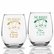 The Perfect Pear Personalized Stemless Wine Glasses (9 oz or 15 oz)