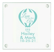 Love Is In The Air Personalized Wedding Coasters