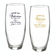 Aged To Perfection Personalized Stemless Champagne Glass (9 oz)