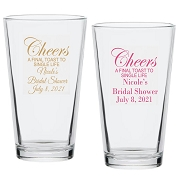 Cheers A Final Toast To Single Life Pint Glass (16 oz)