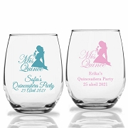 Mis Quince Personalized Stemless Wine Glass (9 oz or 15 oz)