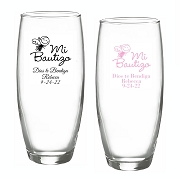 Mi Bautizo Stemless Champagne Glasses (9 oz)